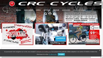 Site internet de CRC Cycles
