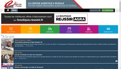 Site internet de Societe Presse Documentation Agricole Creuse