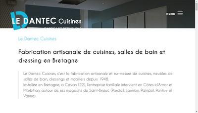 Site internet de Cuisines le Dantec le Goff