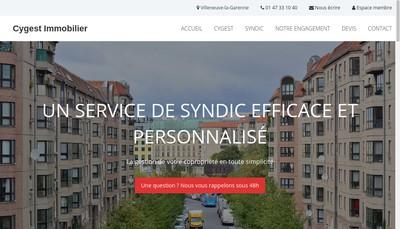 Site internet de Cygest Immobilier