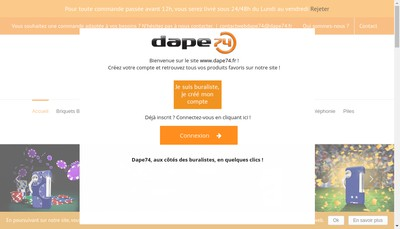 Site internet de Dape 74 Distribution