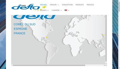 Site internet de Defta