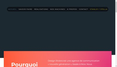 Site internet de Design Riviera