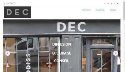 Site internet de Dec - Diffusion Eclairage Conseil