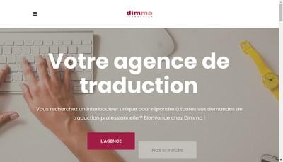 Site internet de Dimma Traduction