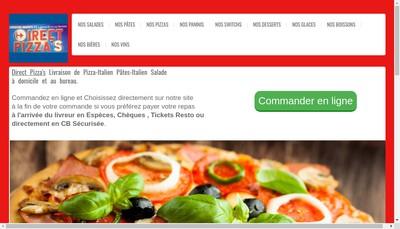 Site internet de Direct Pizza