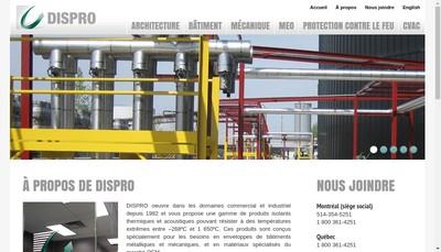 Site internet de Dispro