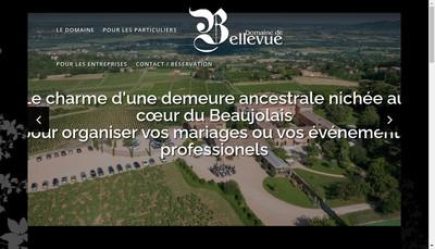 Site internet de Domaine de Bellevue