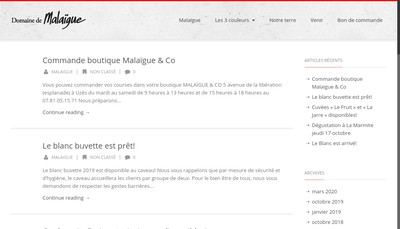 Site internet de Malaigue & Co