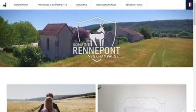 Site internet de Domaine Rennepont-en-Champagne