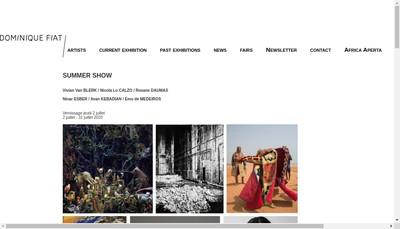 Site internet de Galerie Dominique Fiat
