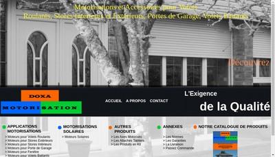 Site internet de Doxa Motorisation
