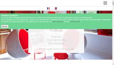 Site internet de D & P Event