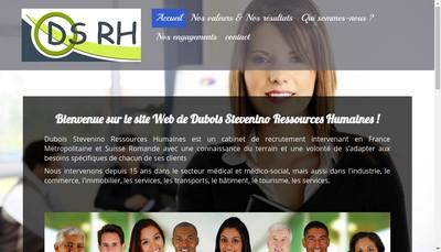 Site internet de Dubois Stevenino Ressources Humaine