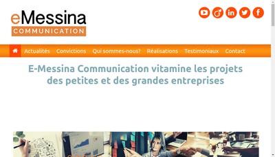 Site internet de E-Messina Communication
