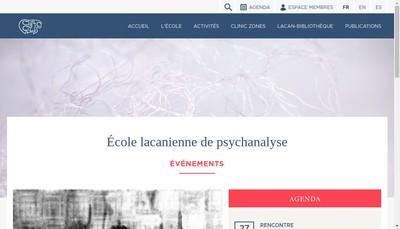 Site internet de Ecole Lacanienne de Psychanalyse