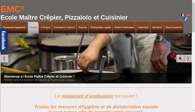 Site internet de Ecole Maitre Crepier et Cuisinier