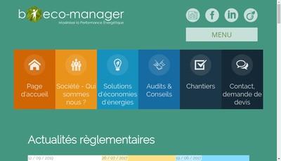 Site internet de B Eco Manager