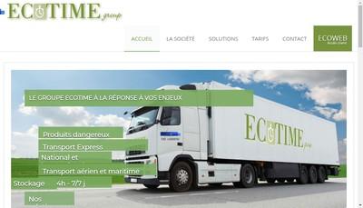 Site internet de Ecotime