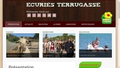 Site internet de Les Ecuries de Terrugasse