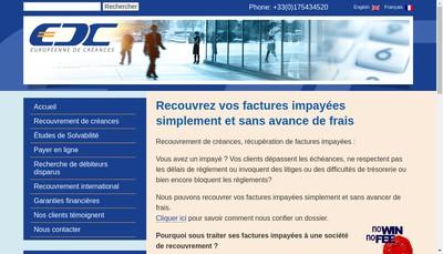Site internet de Societe Europeenne de Creances