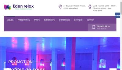 Site internet de Eden Relax