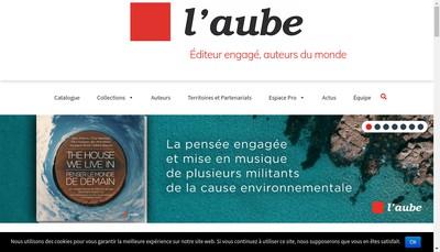 Site internet de Les Editions de l'Aube
