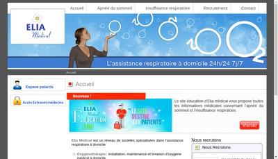 Site internet de Elia Medical Est