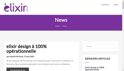Site internet de Elixir Design