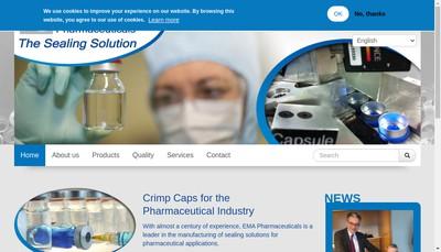 Site internet de Ema Pharmaceuticals