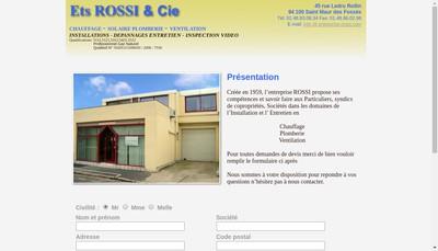 Site internet de Etablissements Rossi et Cie