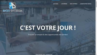 Site internet de Enzo Interim