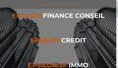 Site internet de Holding Epsilon 3F