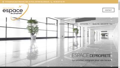 Site internet de Espace de Proprete
