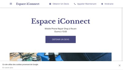 Site internet de Espace Iconnect