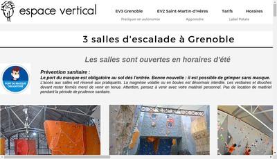 Site internet de Espace Vertical