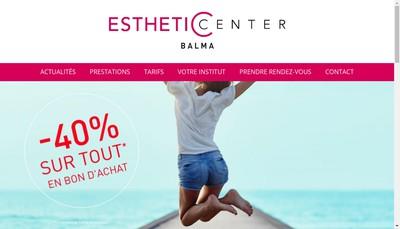 Site internet de Esthetic Center