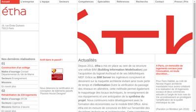 Site internet de Etha