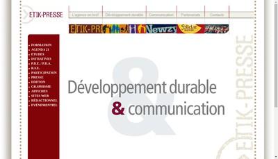 Site internet de Etik-Presse
