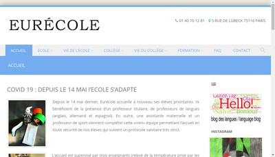 Site internet de Eurecole