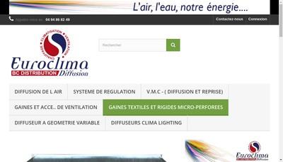 Site internet de BC Distribution