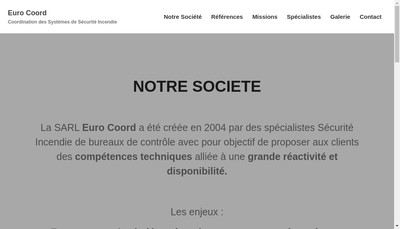 Site internet de Euro Coord