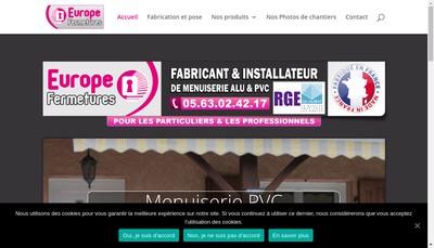 Site internet de Europe Fermetures
