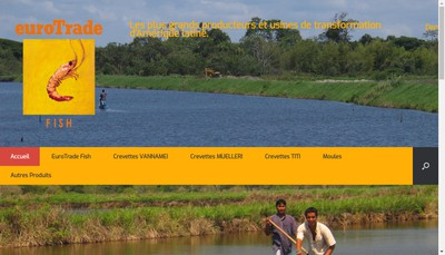 Site internet de Eurotrade Fish