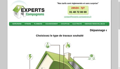 Site internet de Experts Compagnons
