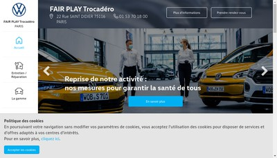 Site internet de Fair Play Trocadero