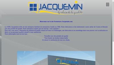 Site internet de SARL Jacquemin et Fils