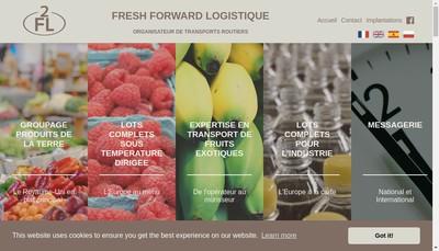 Site internet de Fresh Forward Logistique