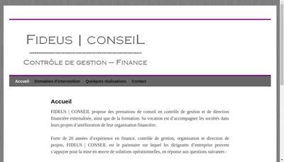 Site internet de Fideus Conseil