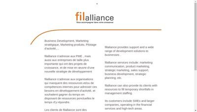 Site internet de Filalliance-G